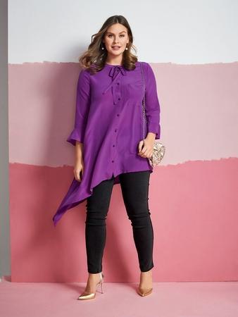 Блузка со скошенным низом