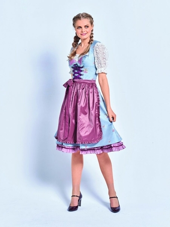 Платье, блузка и фартук