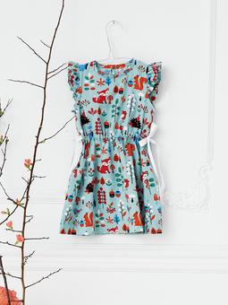Платье с оборками вдоль пройм