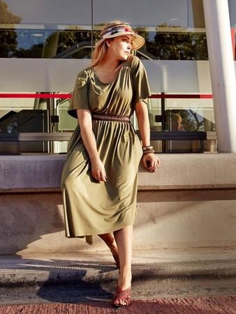 Платье с юбкой асимметричного кроя