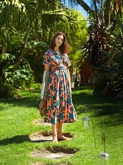 Платье-трансформер с длинными завязками