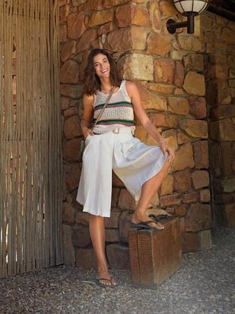 Выкройка юбки-шорты со складками спереди