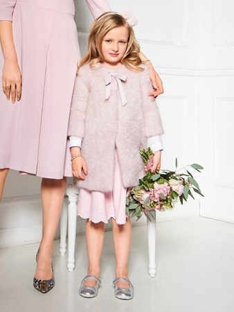 Пальто А-силуэта для девочки