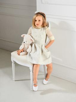Платье с широкой юбочкой для девочки
