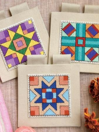 Схема вышивки «Не просто квадраты»