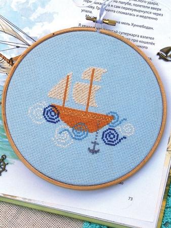 Схема вышивки «Плывёт, плывёт кораблик»