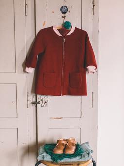 Пальто на молнии для девочки