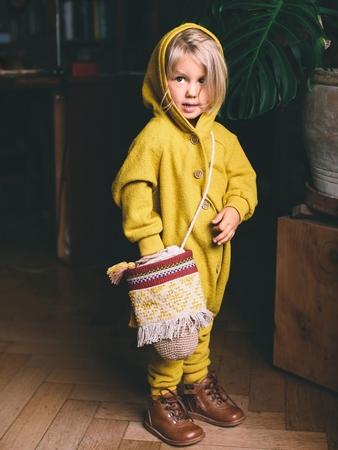 Комбинезон с рукавами реглан для девочки