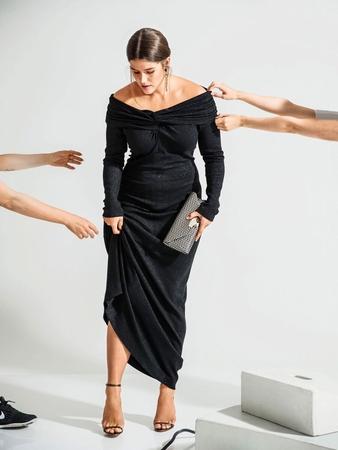 Макси-платье А-силуэта