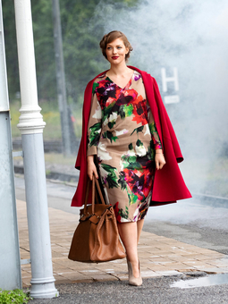 Платье с эффектом запаха