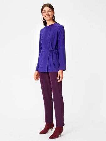 Блузка  с асимметричной застежкой