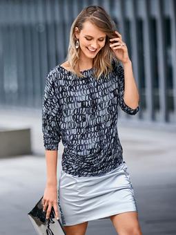 Пуловер асимметричного кроя