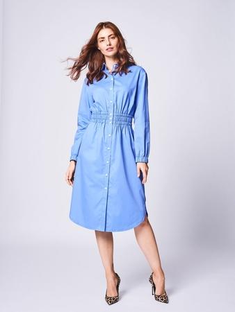 Платье-рубашка с втачным поясом