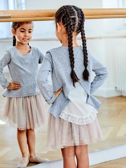 Пуловер расклешенного силуэта для девочки