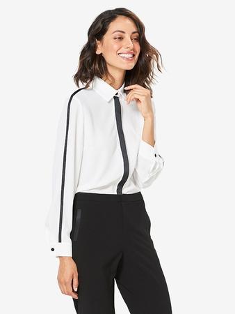 Блузка-рубашка с потайной застёжкой