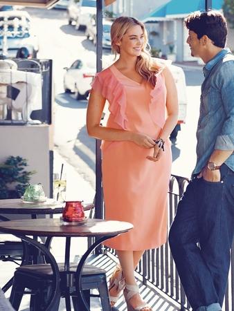 Шёлковое платье-футляр