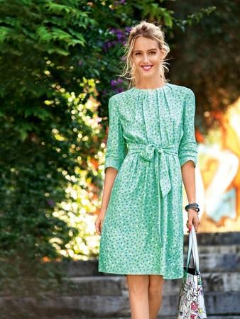 Платье с нижней планкой и завязками