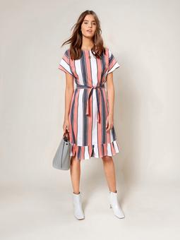 Платье с круглым вырезом горловины