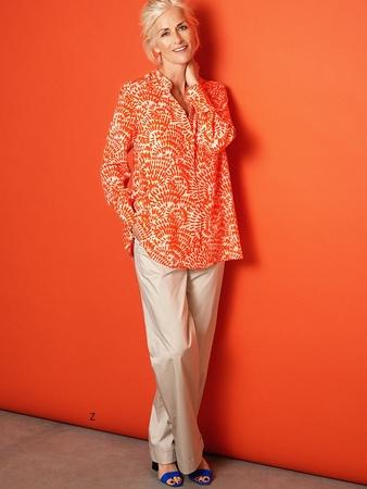 Блузка-рубашка А-силуэта