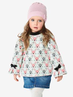 Пуловер с рукавами реглан для девочки