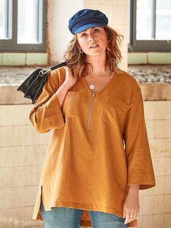 Блузка с удлинённой спинкой