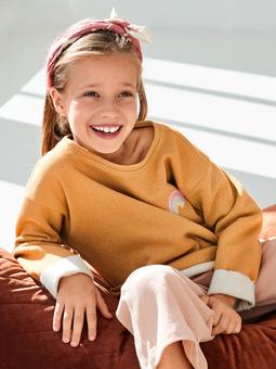 Пуловер прямого кроя для девочки