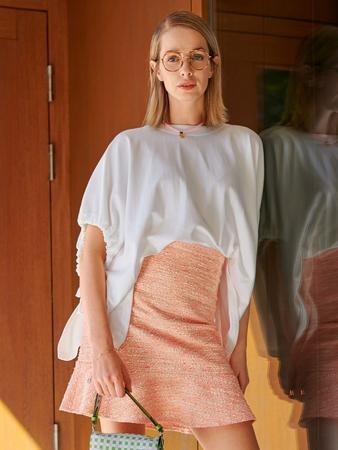 Мини-юбка с воланом