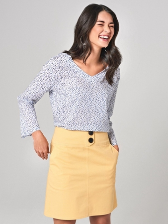 Блузка с длинными рукавами
