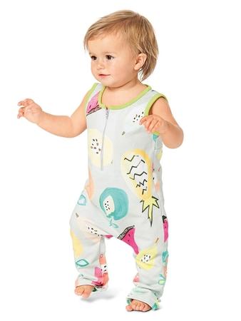 Детский трикотажный комбинезон без рукавов