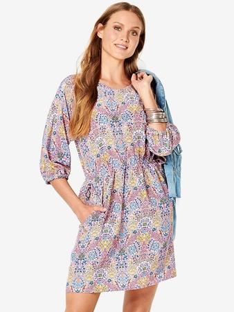 Мини-платье с рукавами реглан