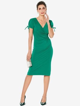 Платье с фальшзапахом