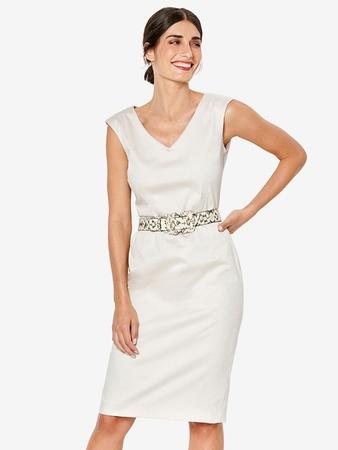 Платье-футляр с V-вырезами