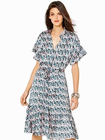 Платье-рубашка с оборками