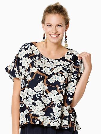 Блузка с круглой горловиной
