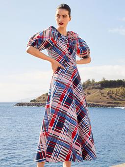 Платье с пышными рукавами от дизайнерской марки Aybi