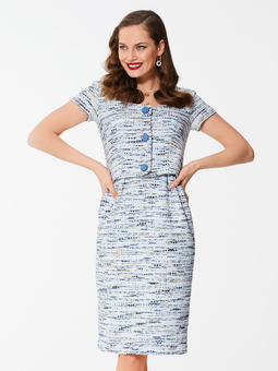 Платье-футляр в стиле ретро