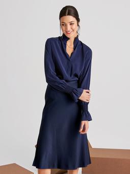 Шёлковая юбка А-силуэта