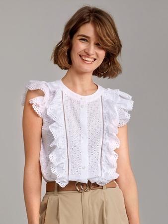 Блузка расклешенного силуэта
