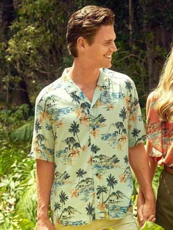 Мужская рубашка в гавайском стиле