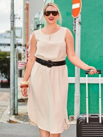 Платье со скругленным низом
