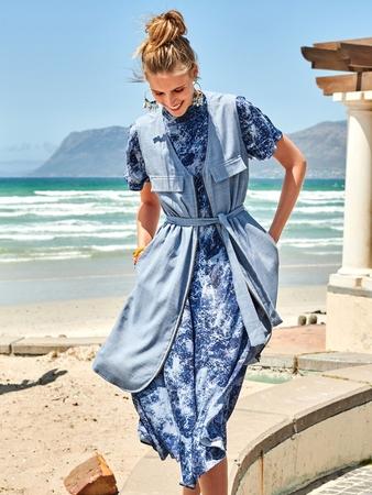Платье-жилет прямого кроя