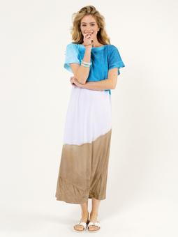 Длинное платье простого кроя