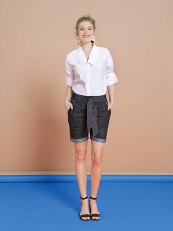 Шорты в джинсовом стиле