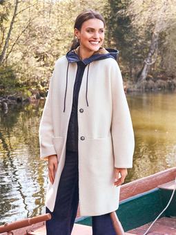 Пальто О-силуэта из шерстяного сукна