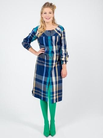 Платье-рубашка с кулиской на талии