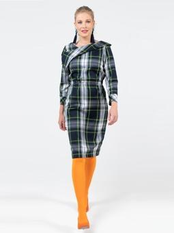 Платье с асимметричным воротником