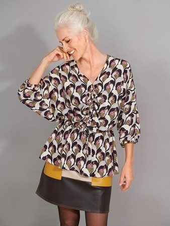Блузка «летучая мышь»