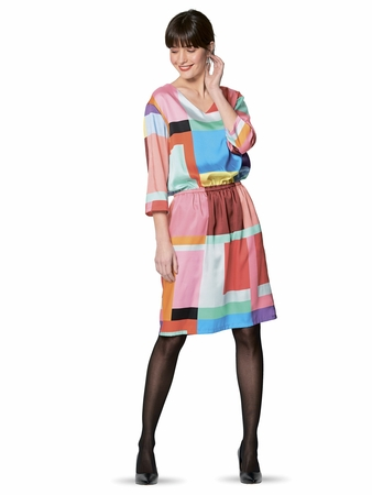 Платье с V-вырезом