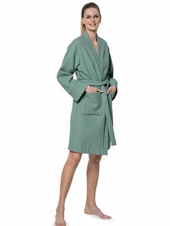Халат-кимоно с накладными карманами