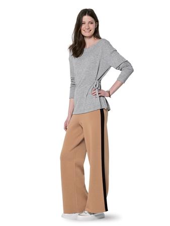 Пуловер с завязками